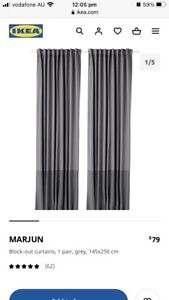 Thermal Blockout curtains in Grey (IKEA Marjun)