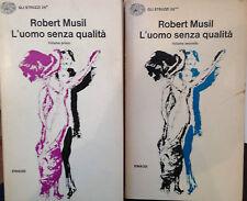 MUSIL, L'UOMO SENZA QUALITA', EINAUDI, 2 VOLUMI, COLL. GLI STRUZZI