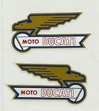 MOTO DUCATI L&R FUEL TANK Vinyl Decal Sticker MOTORCYCLE  INDIAN ARIEL BSA