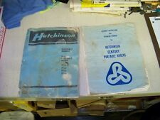 Hutchinson Century Portable Auger Operator & Assembly Manuals Lear Siegler 1980