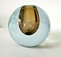 MCM Strombergshyttan Mid Century Art Glass Spherical Orb Gunnar Nyland Signed