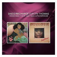 DISCO RECHARGE EVELYN THOMAS ~WANNA MAKE IT | A LITTLE FAITH NEW SEALED CD