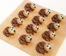 12 Royal Icing Hedgehogs Handmade cute edible sugar cake topper decoration 2cm