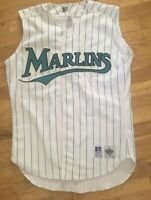 VINTAGE 90 RUSSELL ATHLETIC AUTHENTIC MLB FLORIDA MIAMI MARLINS SEWN 44 JERSEY L