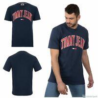 Tommy Jeans Herren Basic T-Shirt Neu mit Etikett Gr. M/L/XL Navy Blue