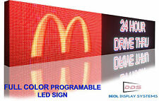 "13"" x 100"" Outdoor 16M Color Programmable Led Sign Open Display 10mm Ultra Hd"