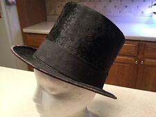 Antique Vintage Men's Top Hat Old Bond Street Preston & Co London Size 7 1/8