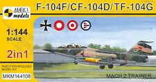 Mark I Models 1/144 Lockheed F-104F/CF-104D/TF-104G Starfighter 'Mach 2 Trainer'