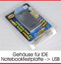 USB EXTERN HDD GEHÄUSE + CABLE ADAPTER VON IDE 44PIN PATA HDD FESTPLATTE ZU USB