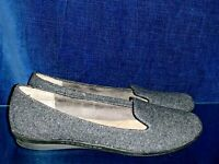 CLIFFS by WHITE MOUNTAIN Gray Tweed Ballet Flats Loafers Womens Shoes Sz 8 👣b14