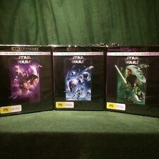Star Wars: Original Trilogy 4K/Blu Ray (New Hope / Empire Strikes / Return Jedi)
