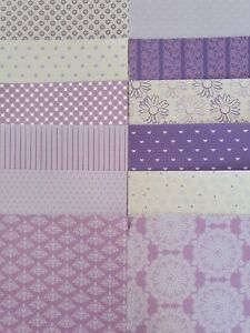 """12 x Simply Creative Lavender Dreams 6""""x 6"""" Papers For Cardmaking"""