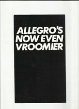 AUSTIN MORRIS ALLEGRO 1750 EQUIPE LIMITED EDITION SALES BROCHURE 1979