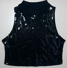 Mad Rag Black Women's Medium (8-10) Sleeveless Sequin Top (New W/O Tags)