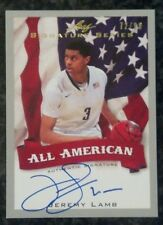 Jeremy Lamb All-Americian Silver Auto /99 Card 2012-2013 Leaf Signature Series