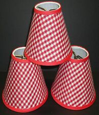 Set 3 Chandelier Gingham Shade Blue Green Pink Purple Red Yellow