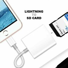 Lightning to SD Card Camera Reader Adapter for Apple iPhone 6s/7/8/X iPad Air