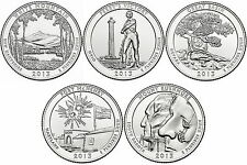 2013 US National Park Quarters Five Coins Uncirculated Straight from the US Mint