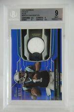 2013 Bowman Relics Blue #BRCN Cam Newton 66/99 BGS Graded 9 Mint