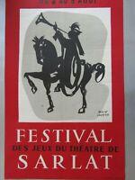 Affiche Alain Carrier / Festival des jeux du théâtre de Sarlat