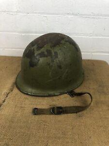 WW2 Era US Army Military Steel Pot M1? Army Helmet