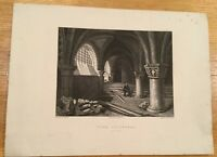 c1860 - York Cathedral, The Crypt. Engraved By Winkles.