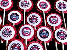 15 SOCK MONKEY Cupcake Toppers Birthday Party, Baby Shower Decoration 15