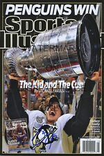 Sidney Crosby SI Auto Replica Poster Pittsburgh Penguins Champs Kid and the Cup