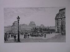 A.P. MARTIAL FRENCH ARTIST ETCHER ORIGINAL ETCHING LOUVRE 1883