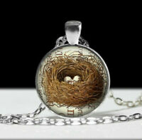 BIRD NEST EGG  accessory charm pendant Sterling Silver 925  necklace gold gift