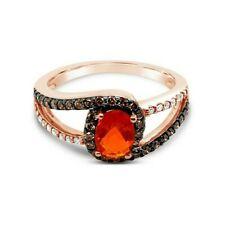 Levian ® кольцо огненный опал ваниль бриллианты ® шоколадные бриллианты ® 14K клубника золото