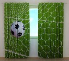 Curtain Goal Wellmira Custom Made Window Printed 3D Football Soccer Sports