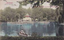 * ROMANIA - Bucarest Bucuresti - Lacul Cismigiu si Insula Monte Carlo 1906