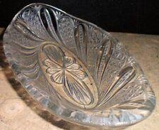 Vintage Collectible Pressed Glass Banana Split Boat Sundae Dish Table Decor Star