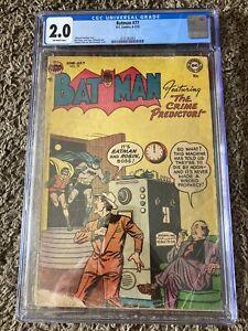 Batman 77    Cgc 2.0. Golden Age