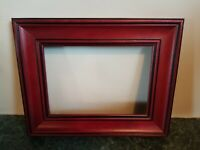 """Very Nice Vintage Cherry Wood Picture Frame Photo Holds 5"""" x 7"""""""