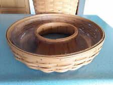 Longaberger medium Wreath Basket in Warm Brown and protector NEW