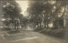 Road Trees & Homes - Publ in Northampton MA c1910 Real Photo Postcard