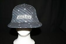 Genuine Dickies Fitted Black Embroidered logo Railroad Trucker Baseball Cap Hat