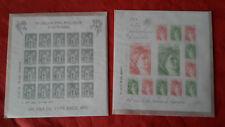 1 bloc timbres 40 ans de la Sabine de Gandon et 1  bloc 140 ans Sage Neuf**