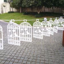 Shabby Chic Bunting Wedding Bird Cage Paper Banner Garland Decoration 5.5m