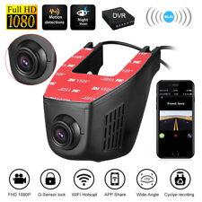 WiFi Hidden 1080P Dual Lens Car DVR Dash Cam Video Recorder Front & Rear Camera