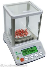 Precision Lab Scale Balance 600g x 0.01g Tree HRB-602 Glass Draft Shield RS232