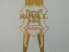 Madonna The Royal Box Set The Immaculate Collection Poster VHS Satin CD