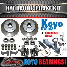 """10"""" Boat Trailer Hydraulic Disc Brake Kit + coupling & hyd Line kit. Jap Bearing"""