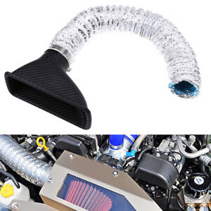 Universal Car Front Lower Bumper Turbo Intake Turbine Inlet Pipe Air Funnel Kit