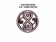 Dr Doctor Who Rassilon Time Lord Symbol Logo Iron On Patch Cosplay USA FREE SHIP
