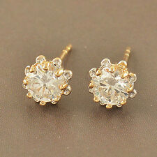Children baby girls Flower earings 14K Gold filled Security womens Hoop Earrings