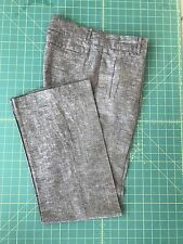 BANANA REPUBLIC Pants Martin Fit Gray Linen Career Slacks Women Sz 4 Ladies Grey