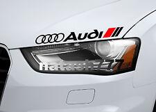 AUDI Vinyl Decal Sticker Performance Sport Car logo BLACK/RED